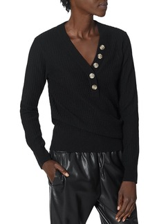 Joie Ribbed Button Sweater