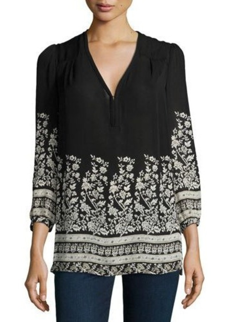 Joie Riva Long-Sleeve Floral-Print Blouse