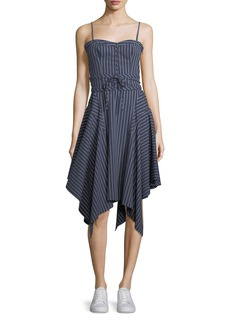Joie Ronit Sleeveless Fit-and-Flare Striped Poplin Dress