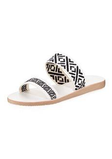 Joie Sable Stitched Slide Flat Sandal