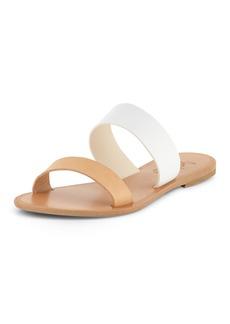 Joie Sable Two-Tone Flat Sandal Slide