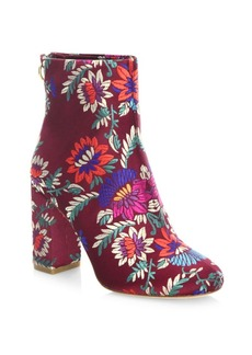 Joie Saleema Brocade Leather Ankle Boots