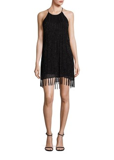 Joie Sanibel Beaded Fringe Hem Dress
