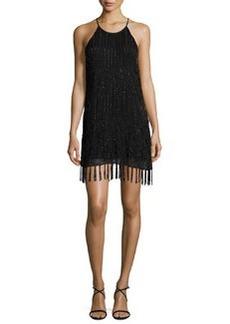 Joie Sanibel Embellished Fringe-Trim Dress