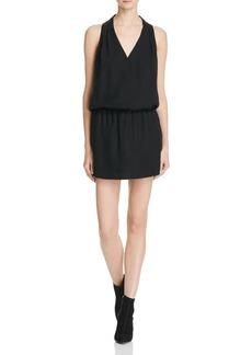 Joie Sapphria Silk Halter Mini Dress