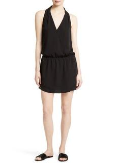 Joie Sapphria Silk Halter Style Blouson Dress