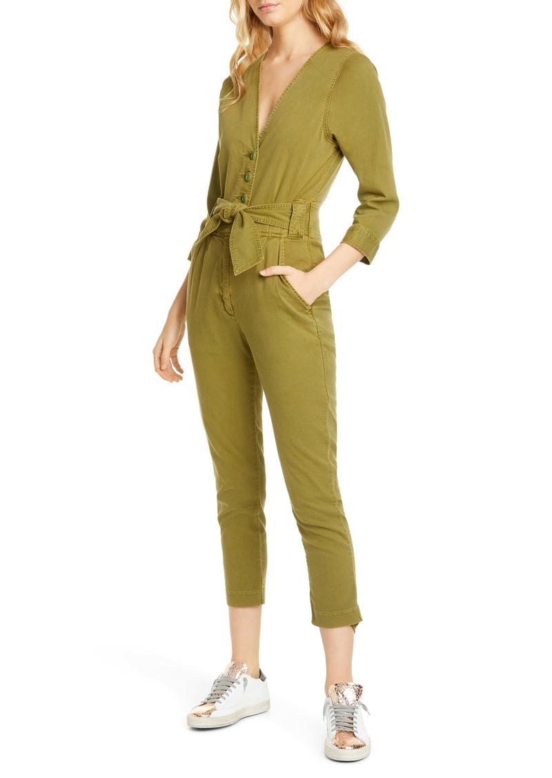 Joie Sashan Stretch Cotton Jumpsuit