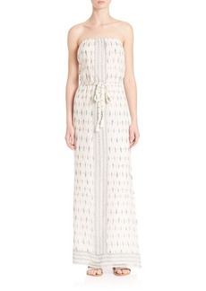 Joie Sedco Printed Silk Maxi Dress