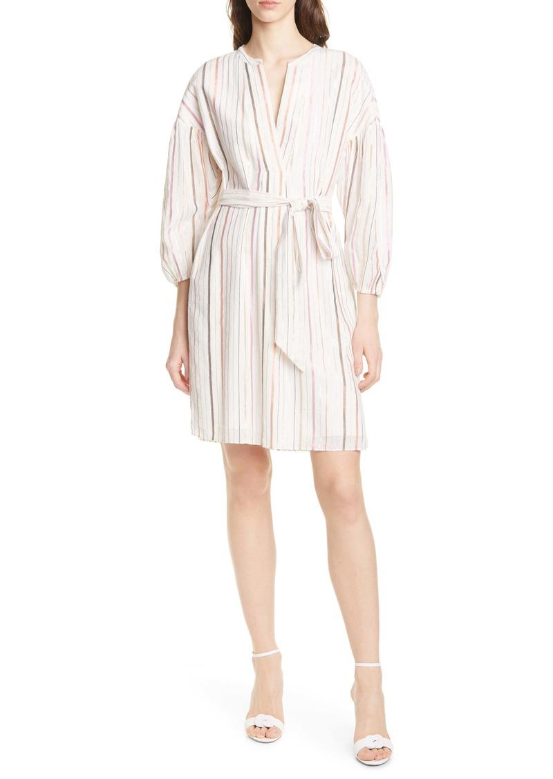 Joie Semra Stripe Cotton Blend Dress