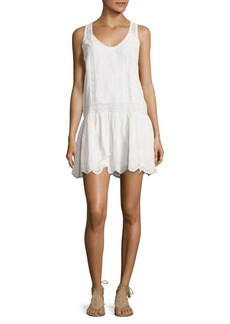 Joie Senon Silk & Lace Embroidered Dress