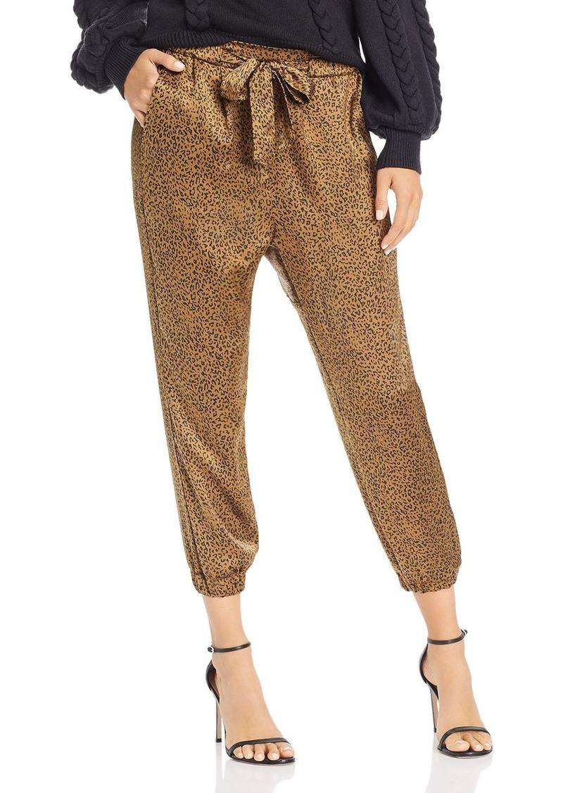 Joie Sequoya Leopard Print Jogger Pants
