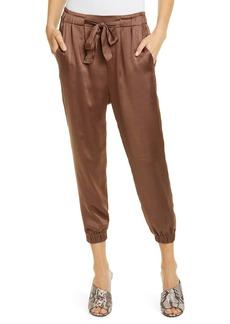Joie Sequoya Satin Jogger Pants