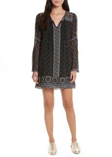 Joie Sheyla Print Silk Shift Dress