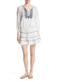 Joie Sid Embroidered Peasant Dress