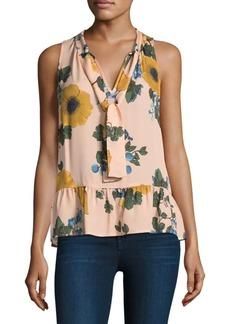 Joie Silk Estero Floral-Print Blouse