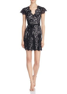 Joie Sloane Belted Lace Dress