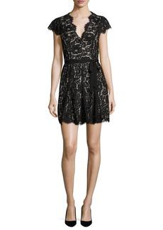 Joie Sloane Cap-Sleeve Lace Dress