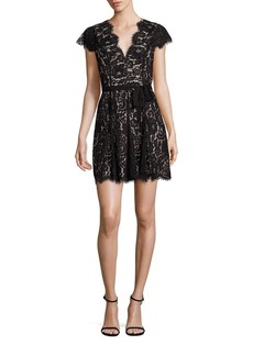 Joie Sloane Lace Cap Sleeve Dress