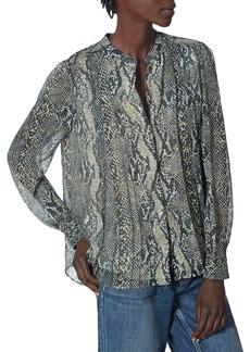 Joie Tassa Snakeskin Print Silk Shirt