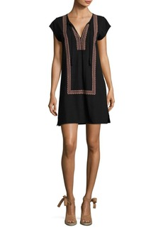 Joie Soft Joie Azuki Embroidered Cotton Dress