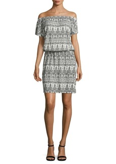 Joie Soft Joie Danyale Off-The-Shoulder Ikat Dress