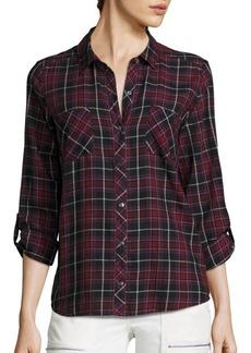 Joie Soft Joie Sequioa Cotton Plaid Shirt