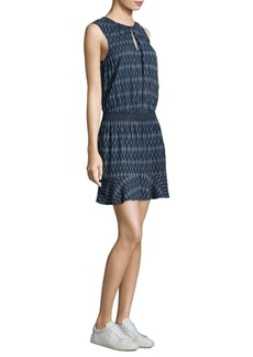 Joie Soft Joie Zealana Ikat-Print Flounce Dress
