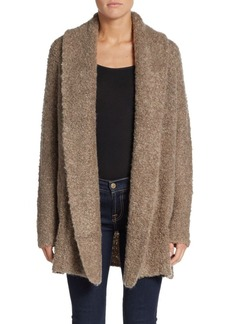 Joie Solome Plush Shawl-Collar Cardigan