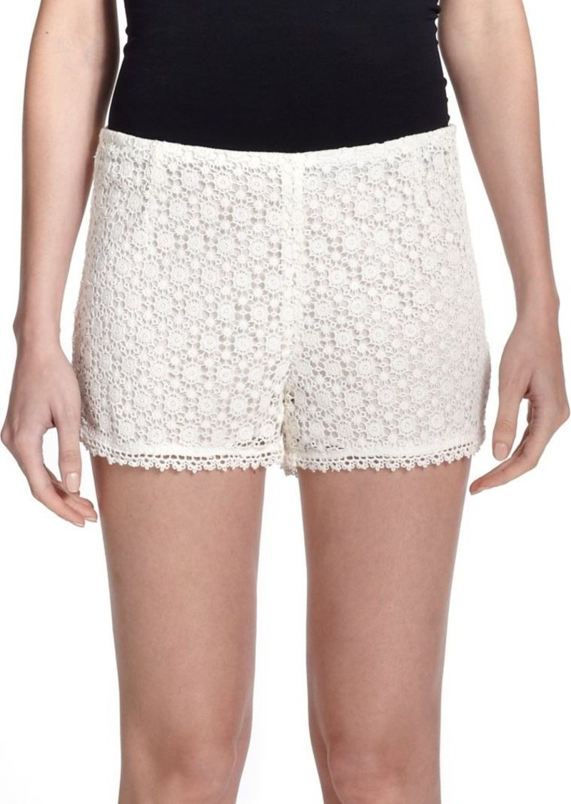 Joie Somme Floral Lace Shorts