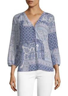 Joie Sonoma Printed Silk Blouse
