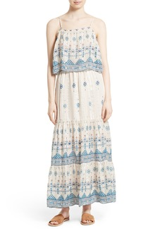Joie Sorne Print Popover Maxi Dress