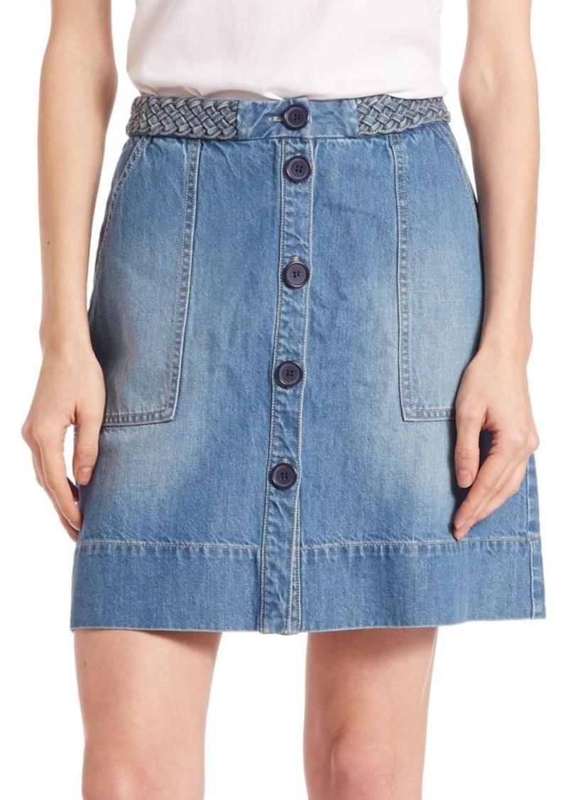 Joie Sorren Denim Skirt
