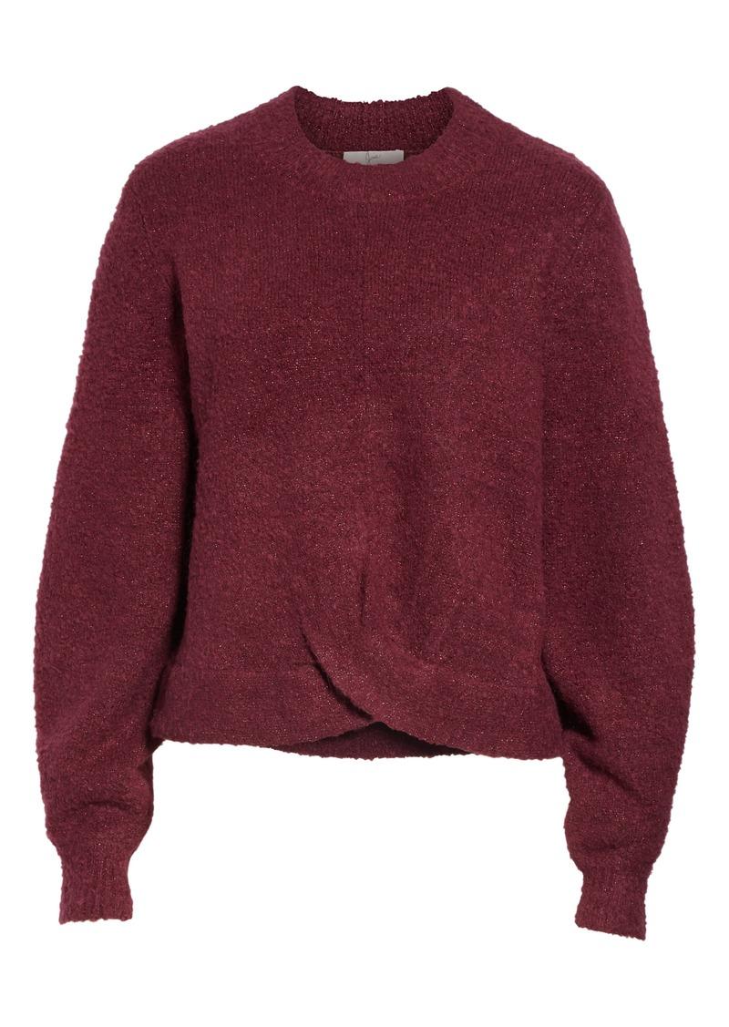 Joie Stavan Metallic Detail Crewneck Sweater