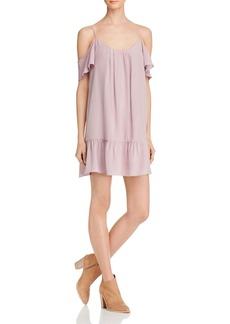 Joie Stellara Cold-Shoulder Silk Dress