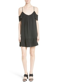 Joie Stellara Cold Shoulder Silk Dress