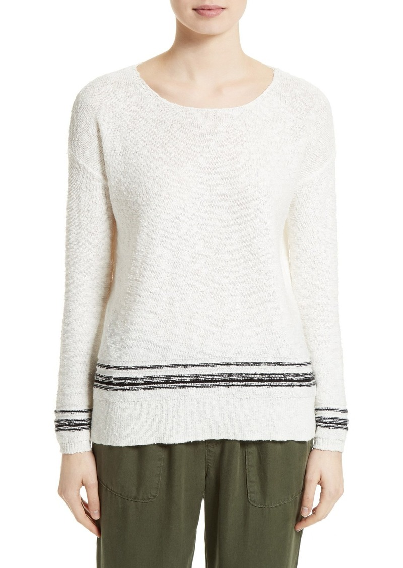 Joie Stripe Cotton Blend Sweater