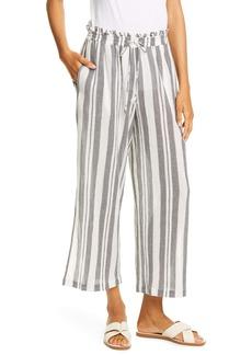 Joie Sylar Stripe Drawstring Waist Cotton Gauze Pants