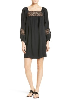 Joie Tabara Lace Trim Peasant Dress