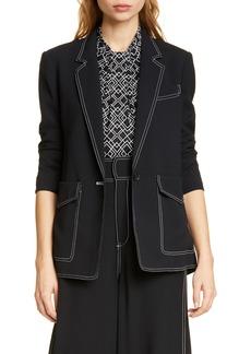 Joie Tabora Stitch Detail Blazer