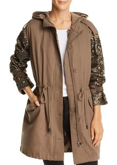Joie Tadita Embellished Convertible Parka