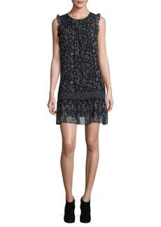 Joie Tahoma B Floral Silk Shift Dress