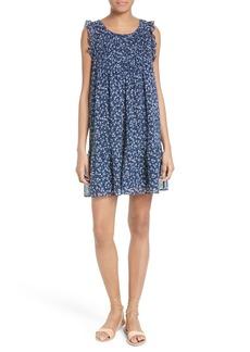 Joie Tahoma Pintuck Silk Swing Dress