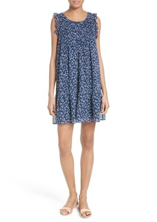 Joie Tahoma Pintuck Silk Swing Dress