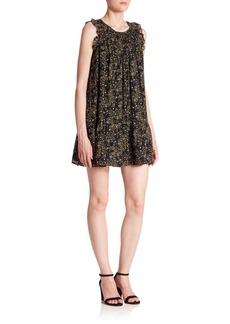 Joie Tahoma Silk Floral-Print Ruffle Dress