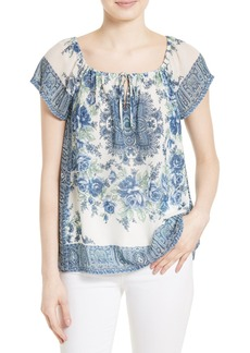 Joie Taj Silk Peasant Top