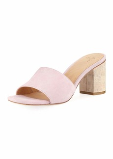 Joie Tapford Suede Slide Sandal with Cork Heel