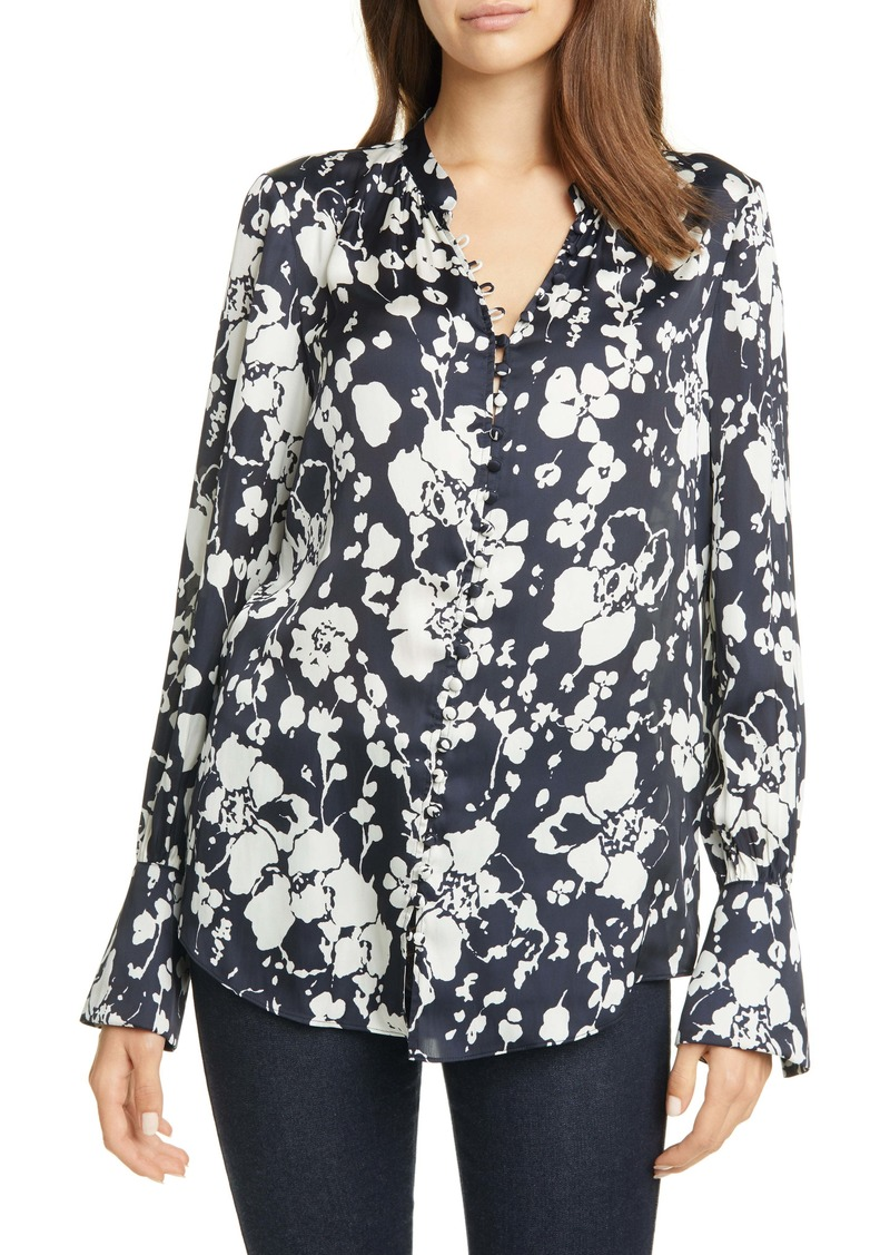 Joie Tariana Floral Satin Blouse