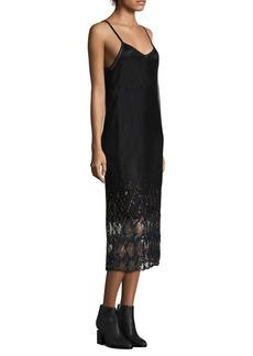 Tommy Hilfiger Tartan Sequin Slip Dress