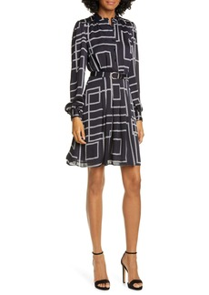 Joie Tasma Geo Print Long Sleeve Dress