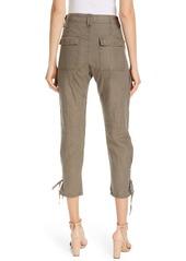 Joie Telutci Tie Cuff Linen Cargo Pants